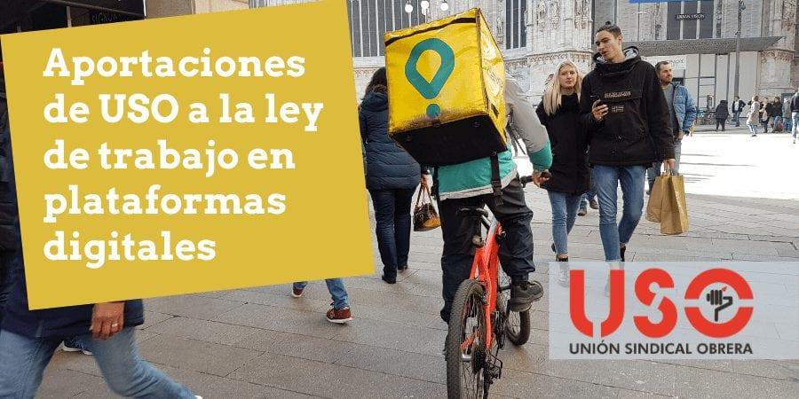 USO presenta sus propuestas para regular el trabajo en plataformas digitales