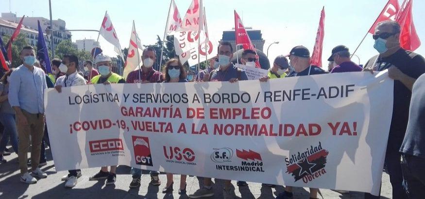 USO exige que los trabajadores del servicio a bordo de Renfe salgan del ERTE