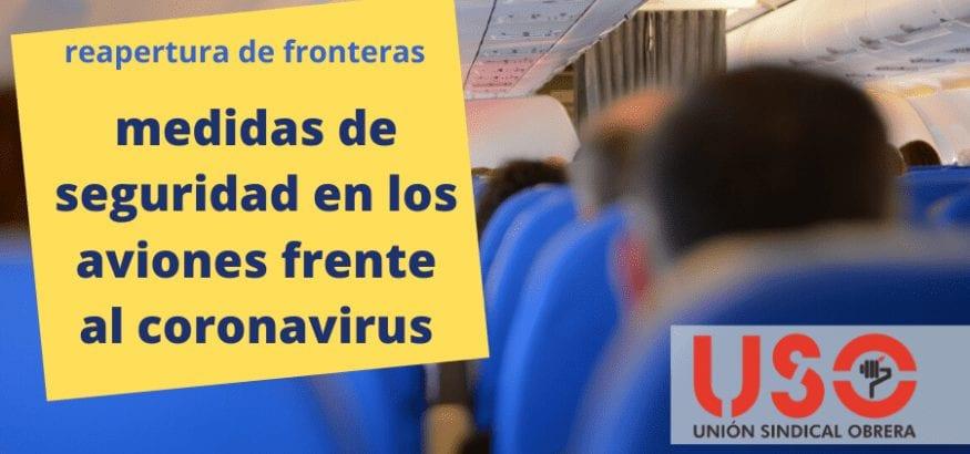 Medidas de seguridad contra el coronavirus en los aviones ante el regreso de los vuelos