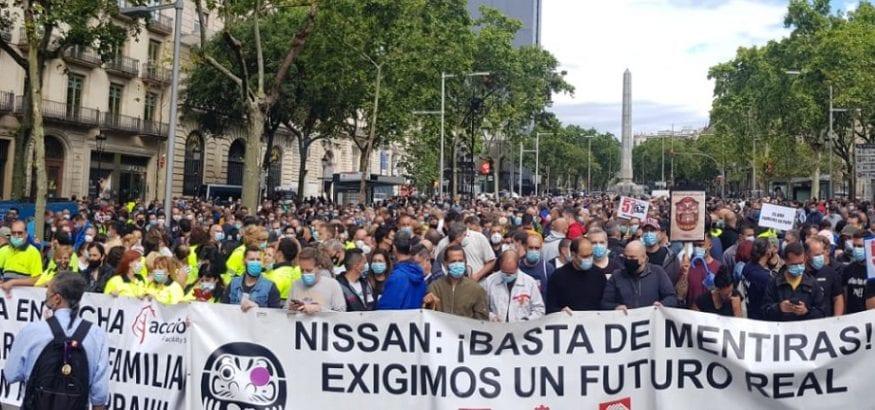 Los trabajadores de Nissan Barcelona vuelven a tomar las calles