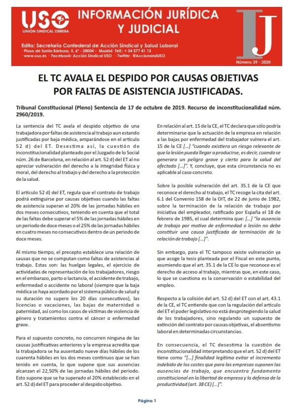 Información Jurídica y Judicial nº 39