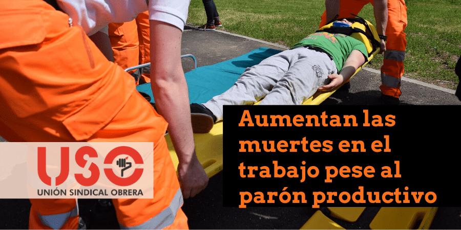 Bajan los accidentes de trabajo hasta mayo, pero aumenta la mortalidad laboral