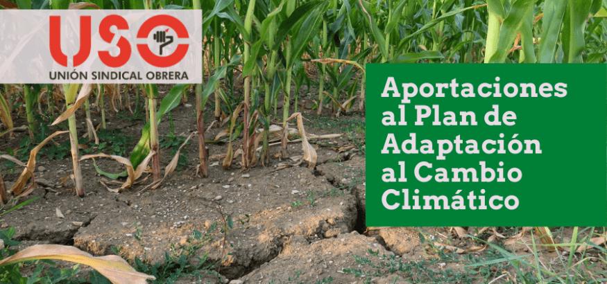 USO presenta carta conjunta a Transición Ecológica para que el Plan de Adaptación al Cambio Climático se fije en el empleo en los sectores sensibles