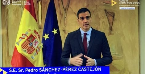 España pide una respuesta multilateral ante la crisis del covid-19 en la Cumbre de la OIT