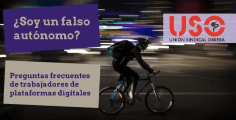 ¿Soy un falso autónomo? Preguntas frecuentes de trabajadores de plataformas digitales
