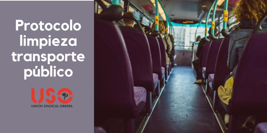 ¿Qué protocolo de limpieza debe seguirse en el transporte público?