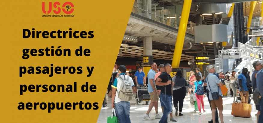 Directrices para gestión de pasajeros y personal de aeropuertos