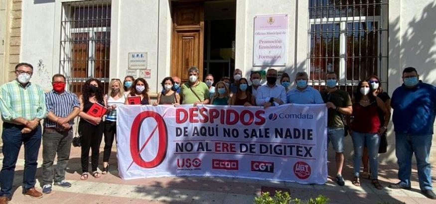 USO firma el acuerdo que mantiene el empleo en Digitex, con la garantía de 11 meses sin despidos