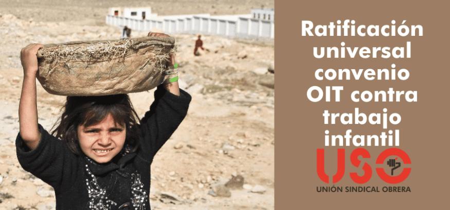 Primera ratificación universal de un convenio de la OIT: el 182, contra el trabajo infantil
