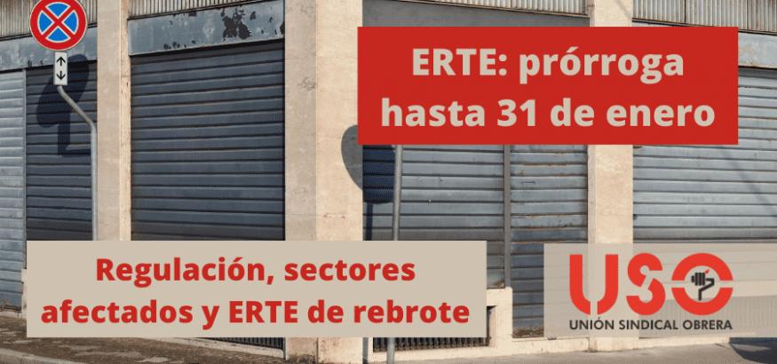 ERTE, prórroga hasta enero: sectores afectados y ERTE de rebrote