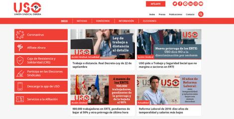 USO renueva su web confederal, más navegable y adaptada a dispositivos