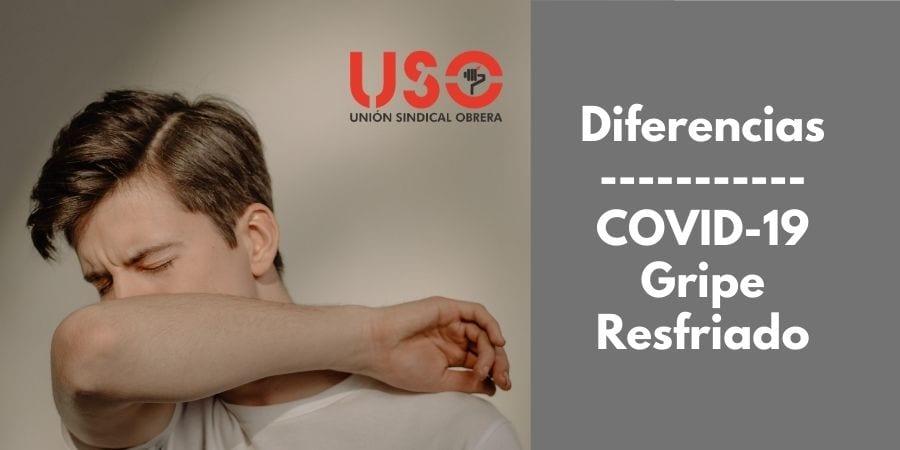 ¿Cómo distinguir los síntomas del COVID-19, la gripe y el resfriado?
