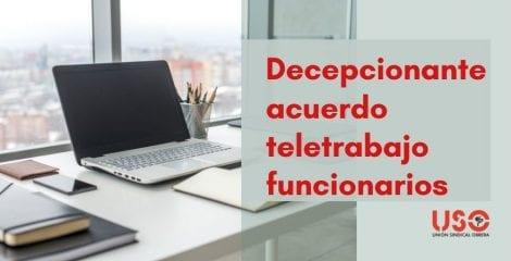 FAC-USO: decepcionante acuerdo para el teletrabajo de funcionarios