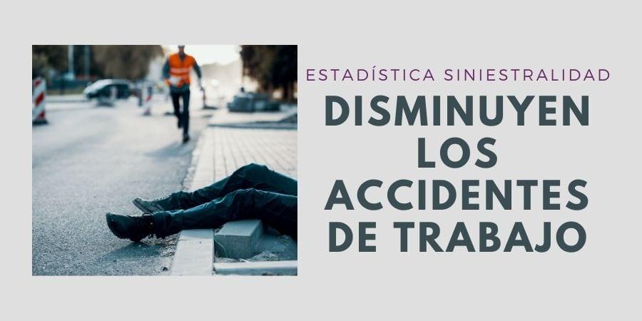 Caen los accidentes de trabajo durante el mes de agosto