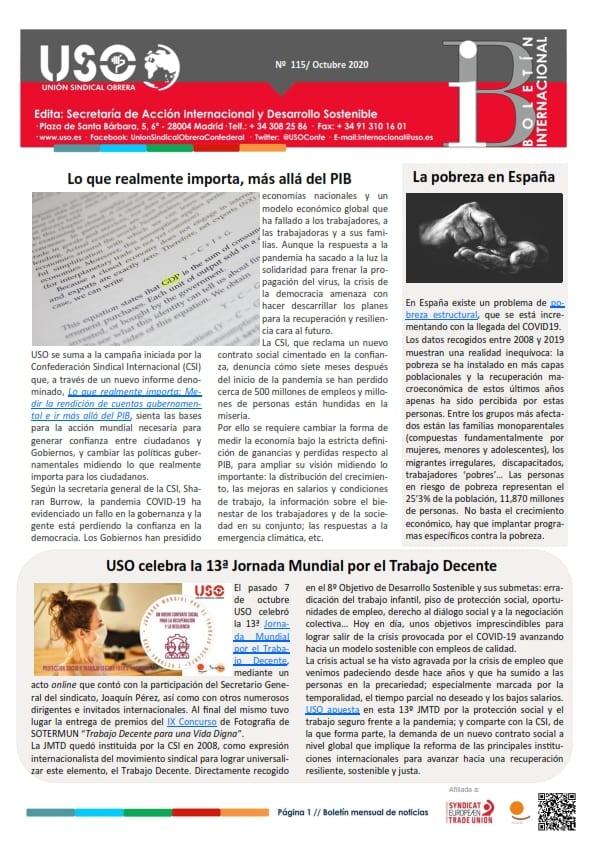 Boletín Internacional Nº 115