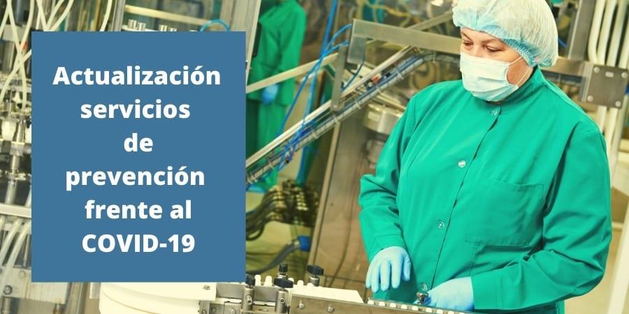 Actualización del procedimiento de servicios de prevención frente al covid-19