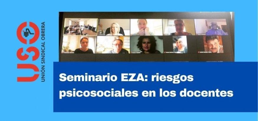 Riesgos psicosociales de los docentes durante la pandemia, en el seminario EZA. Sindicato USO