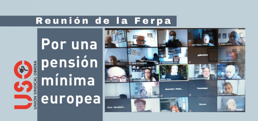 La Ferpa, Federación Europea de Jubilados, por una pensión mínima europea