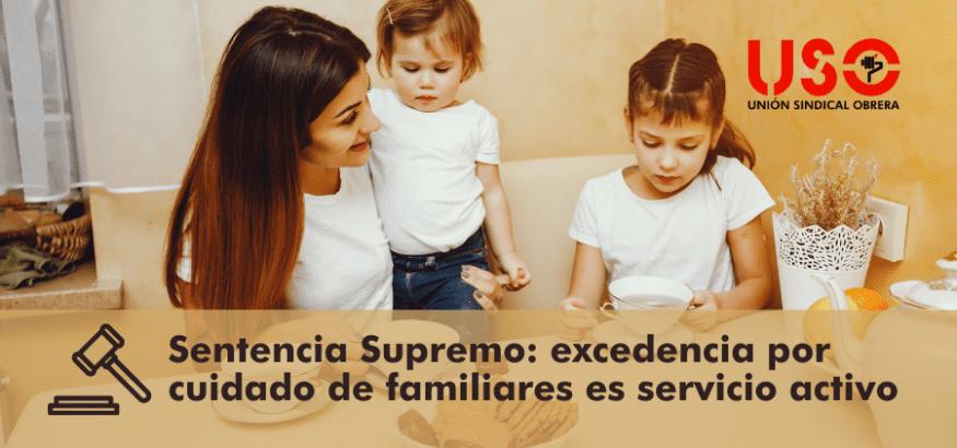 Excedencia voluntaria por cuidado de hijos u otros dependientes: es servicio activo