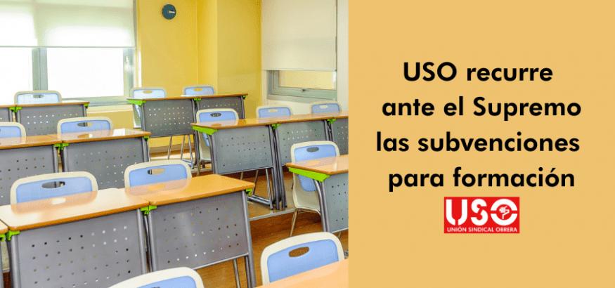 USO recurre la concesión directa de subvenciones de formación