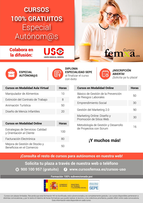 Cursos 100% gratuitos para trabajadores autónomos