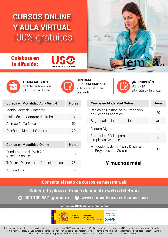 Cursos online y aula virtual. Trabajadores afectados por ERTE