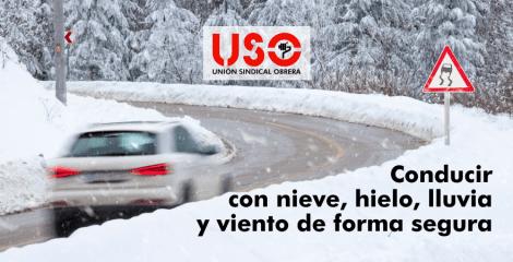 Cómo conducir con hielo, nieve, lluvia de forma segura