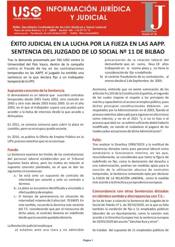 Información Jurídica y Judicial nº 45