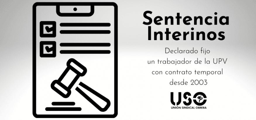 Sentencia interinos: fijo un trabajador temporal de la UPV desde 2003