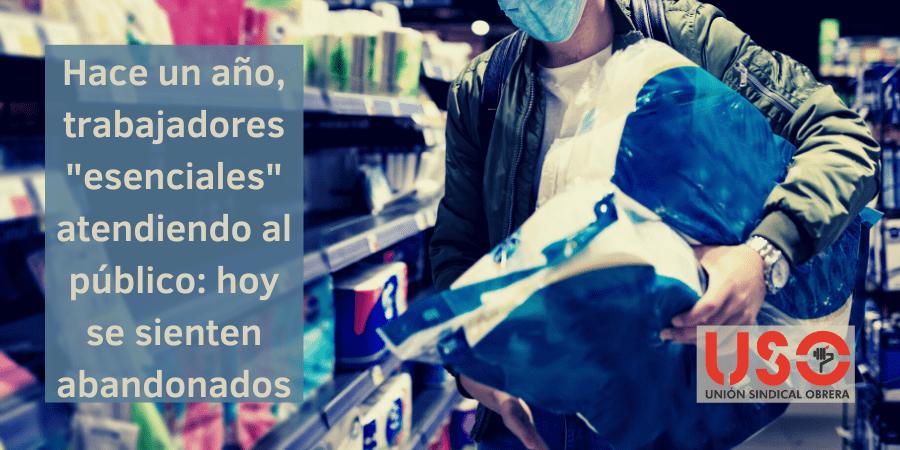 """Supermercados y mostrador: un año de trabajadores """"esenciales"""" atendiendo al público"""