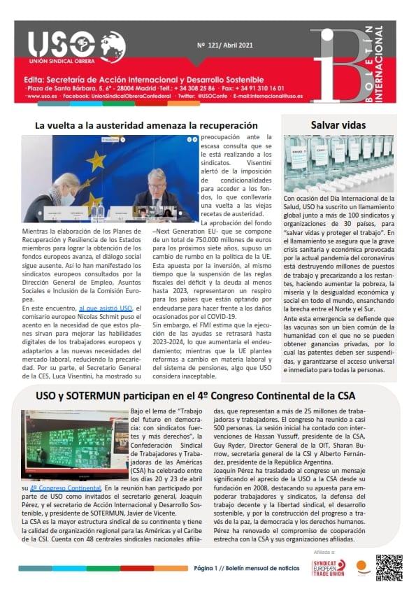 Boletín Internacional Nº 121