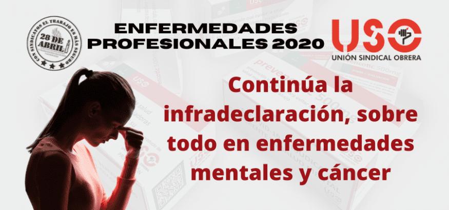 Enfermedades profesionales 2020: continúa la infradeclaración