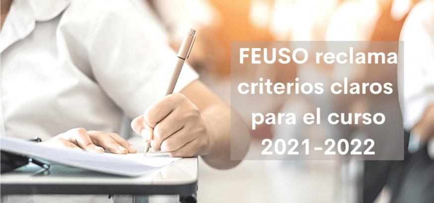 FEUSO reclama criterios claros para el inicio del curso escolar