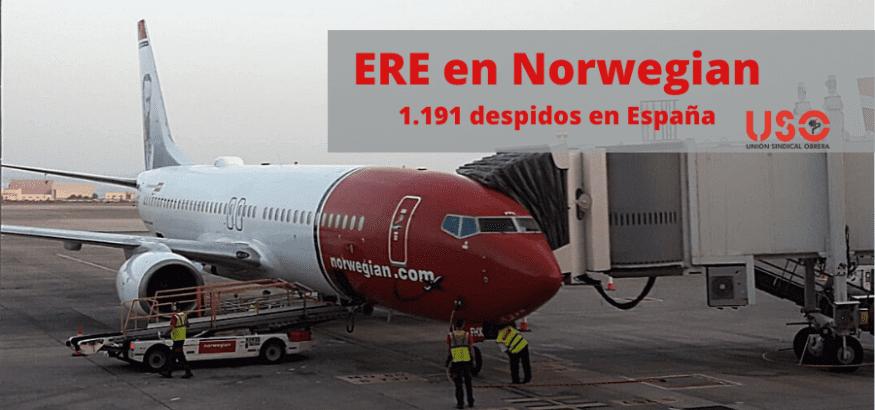 Norwegian anuncia un ERE que afectará al 85% de su plantilla en España
