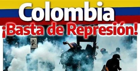 USO condena la brutal represión en Colombia
