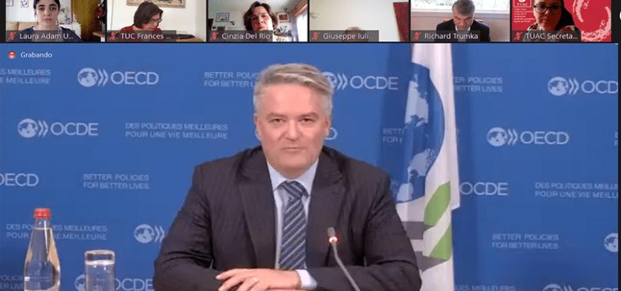 USO, en la 146º sesión de la Comisión Consultiva Sindical ante la OCDE