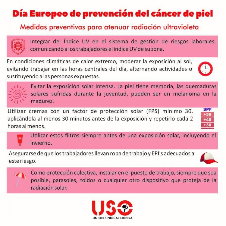 Trabajo con exposición solar y cáncer de piel