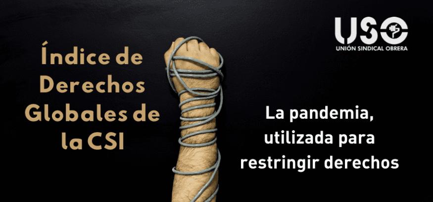 Índice Global de los Derechos de la CSI: la pandemia, usada para restringir derechos
