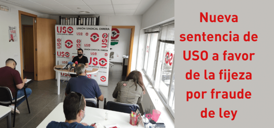 USO logra sentencia pionera de interinos que obliga a hacer fija a trabajadora que aprobó sin plaza