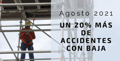 Aumentan un 20% los accidentes de trabajo con baja