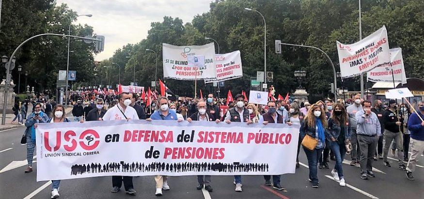 USO, en defensa de las pensiones públicas con COESPE